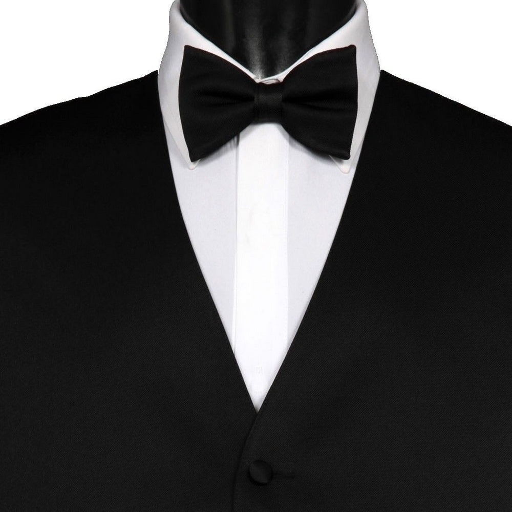 BLACK BOW TIE | MENS | GENTS CLOBBER