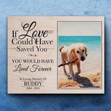 If Love could have saved you, you would have lived forever