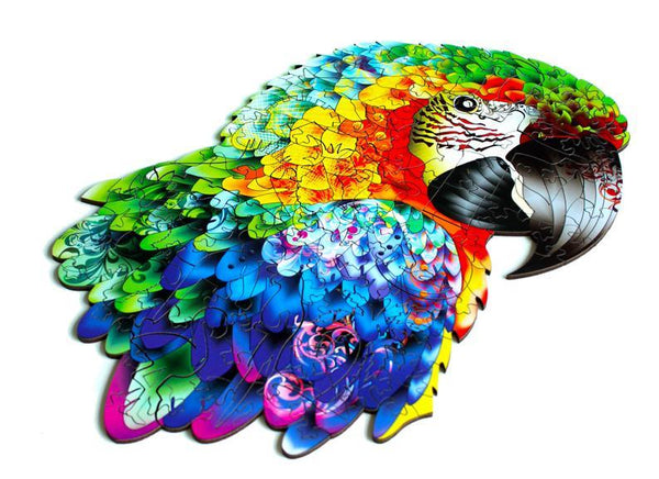 Wooden Jigsaw Puzzle Parrot