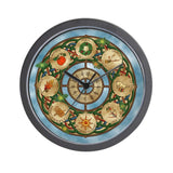 "12"" CafePress wooden clock"