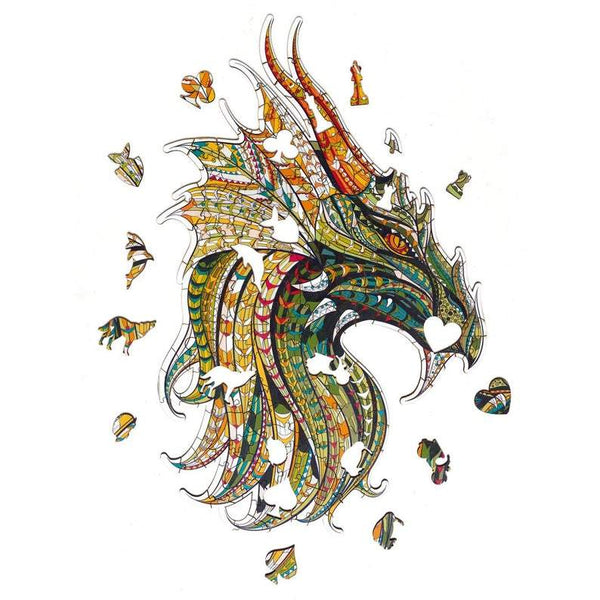 Wooden Jigsaw Puzzle Chinese Dragon