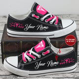 Personalized name Nurse low top shoes