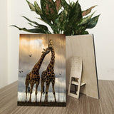 Giraffe Decorative Wood Prints 2