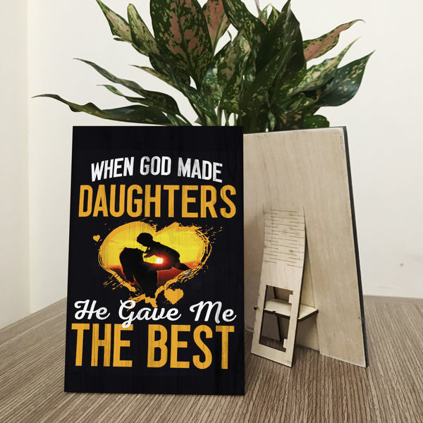 """When God gaves me the best"" Wood Prints"