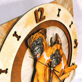 "12"" Boxer dog wooden clock"