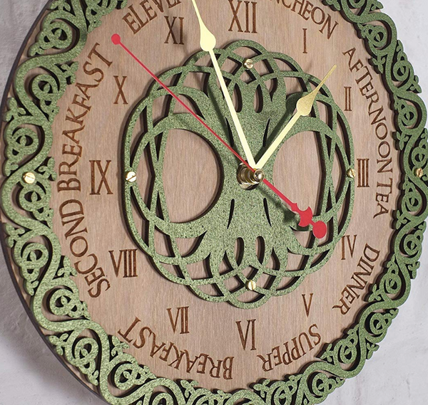 "12"" Wooden Clock - Unique Handcrafted"