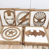 Superhero Sign Wall Art Bedroom Decor