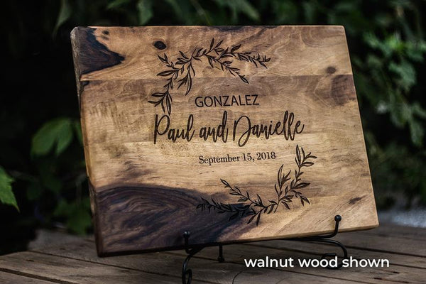 Personalized Cutting Board Wedding Gift