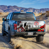 Veteran Lest We Forget Truck Tailgate Decal Sticker Wrap