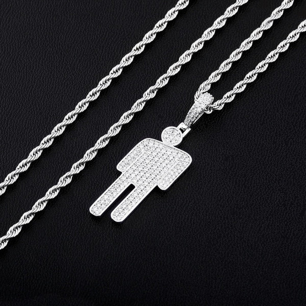 HOT ITEM!!! BILLIE EILISH Iced Out BLOHSH Necklace