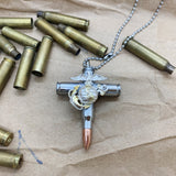 Bullet Cross Necklace - U.S. Marine Corps