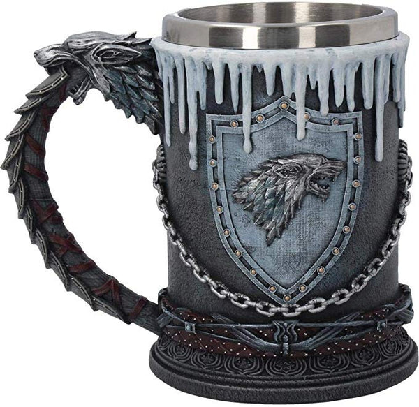 Game of Throne Stanley cup beer mug hand painted 600ml, Lannister, Stark, Targaryen - Christmas, Easter gift