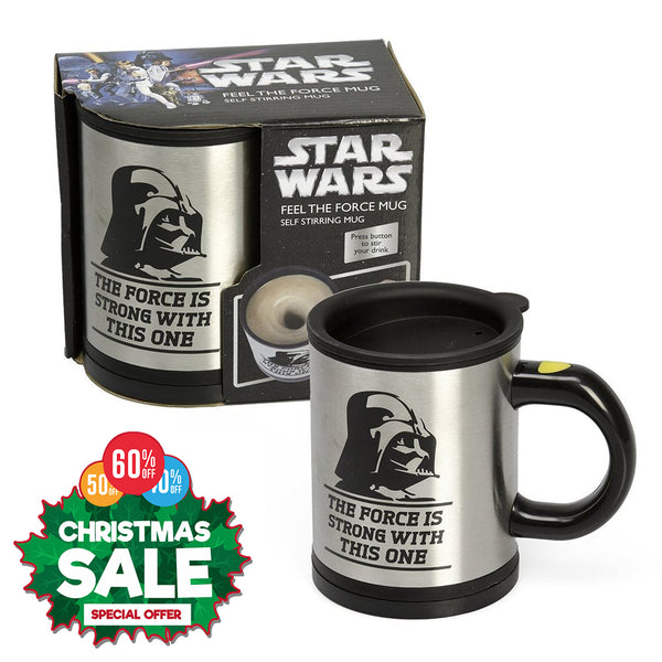 Star Wars Silver Travel Mug Darth Vader Self Stirring Mug Mix Coffee 12oz Coffee Mug Tea Cup Novelty Gift