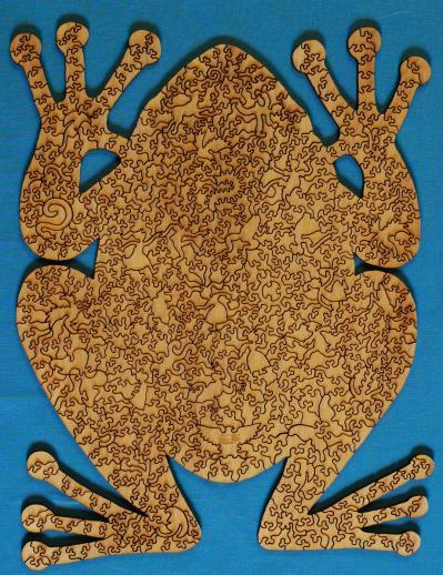 Wooden Jigsaw Puzzle Frog
