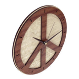 "12"" wooden Clock - Peace Clock in wood"