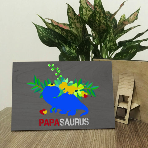 Papasaurus Wood Prints