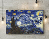 Starry Night Cat Canvas