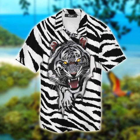 Stripy Tiger Hawaii Shirt