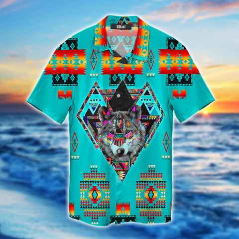 Brocade Wolf All Over Print Hawaii Shirt