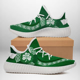St. Patrick's day Yeezy custom logo shoes plus size (white)