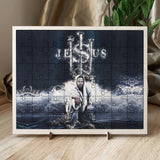 Picture puzzles, wood frame with picture - Jesus