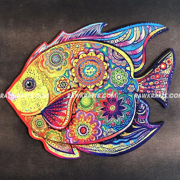 Wooden Jigsaw Puzzle Shinning Fish 106 pcs