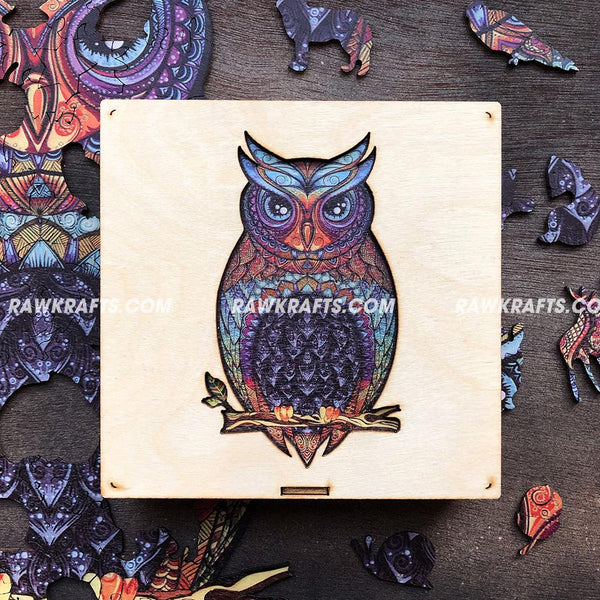 Wooden Jigsaw Puzzle Charming Owl 98 pcs