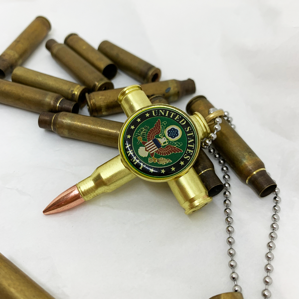 Bullet Cross Necklace - Army