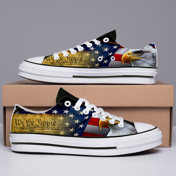 America Eagle Flag Low Top