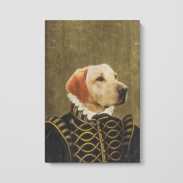Customized Renaissance Pet Portrait Wood Prints