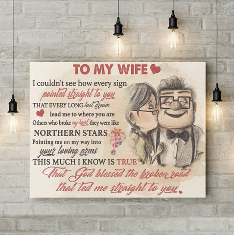 To My Wife Canvas