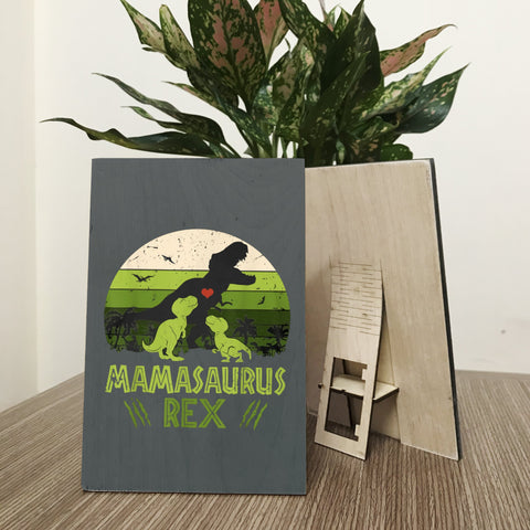 Mamasaurus Wood Prints