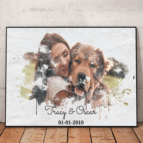 Personalized Dog Lover Canvas Poster