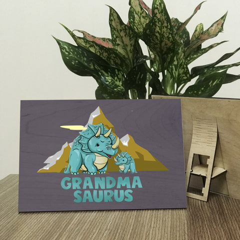 Grandmasaurus Wood Prints