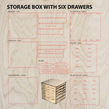Storage box with drawers