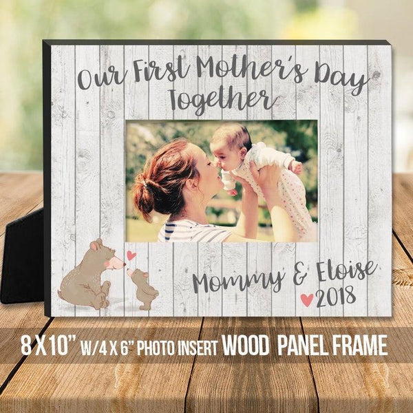 Mothers Day gift - first mothers day together personalized custom photo frame mom and baby frame mother's day gift from baby