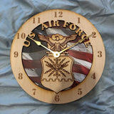 "12"" U.S. Air Force Flag Clock"