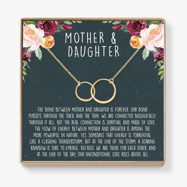 Mother Daughter Gift Necklace, Mother's Day Gift, Gifts for Mom, Mom Necklace