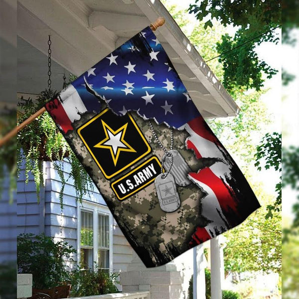 4th of July Flag, United US Army Independence Day Military Proud Soldier Veteran Flag Yard And Outdoor Decor, Garden Decor