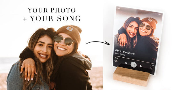 Spotify Frame Valentine's Day Gift - Gift for Boyfriend - Gift for Best Friend - Girlfriend - Unique Photo Gift