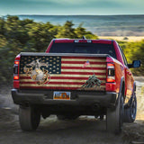 Veteran USMC America Flag Decal Sticker Wrap