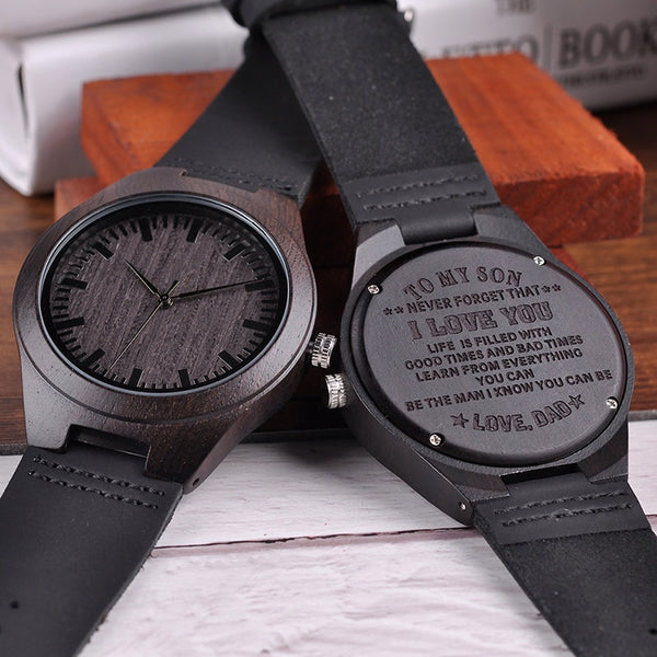 Wooden Men Watch Family Gifts