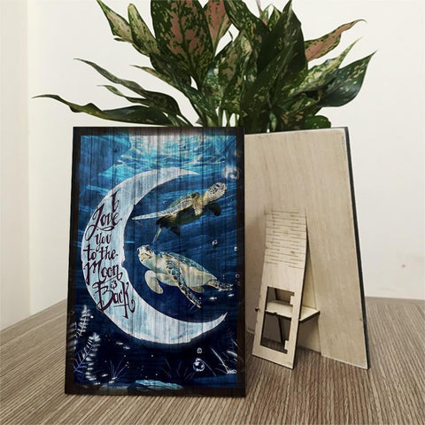 """ I Love You To The Moon and Back"" Wood Prints"