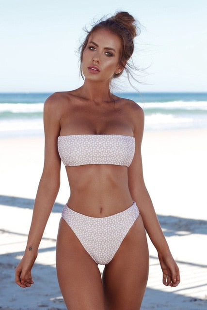 2019 Women Swimsuit Push up Bikini Swimwear Solid Swimming Suit Separa - mystore9560