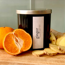 ginger scented luxury soy candle
