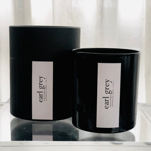 earl grey scented luxury soy candle