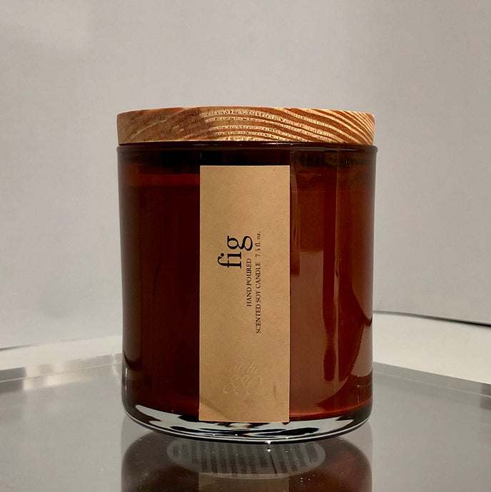 fig scented luxury soy candle