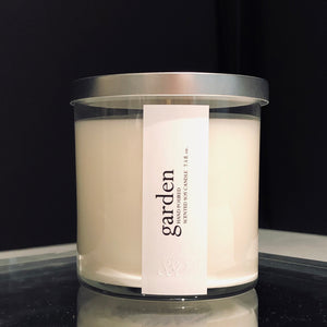 garden scented luxury soy candle