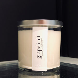 grapefruit scented luxury soy candle