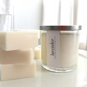 lavender scented luxury soy candle